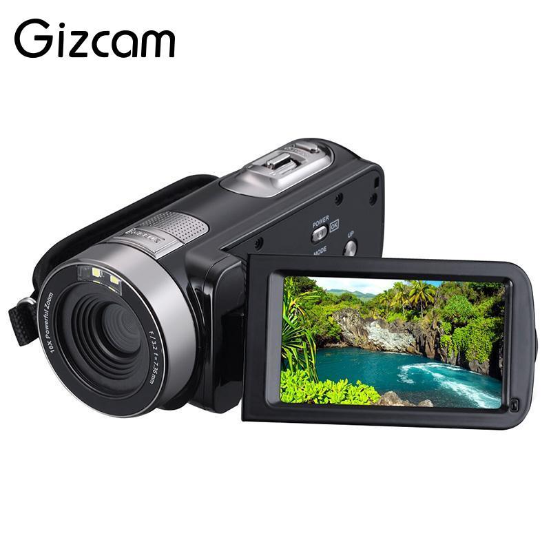 цена на Gizcam HD 1080P Night Vision Digital Camera Recorder Camcorder DV DVR 3.0'' LCD 16x Zoom Digital Cameras Gift