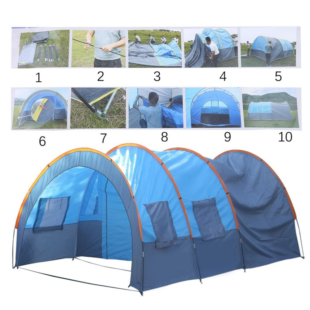 Camping Tent Quick Installation 2 Room 1 Hall 5 Window 8-10 People Waterproof for Outdoor Garden Fishing Hiking Free Shipping inpower pro 11 5 crack unlimited installation