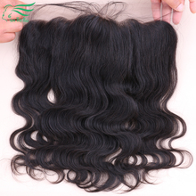 DHL Free Ship 7A Virgin Brazilian Human Hair Ear To Ear Lace Frontal Closure With Baby Hair 13×4 Body Wave Lace Frontal Closures