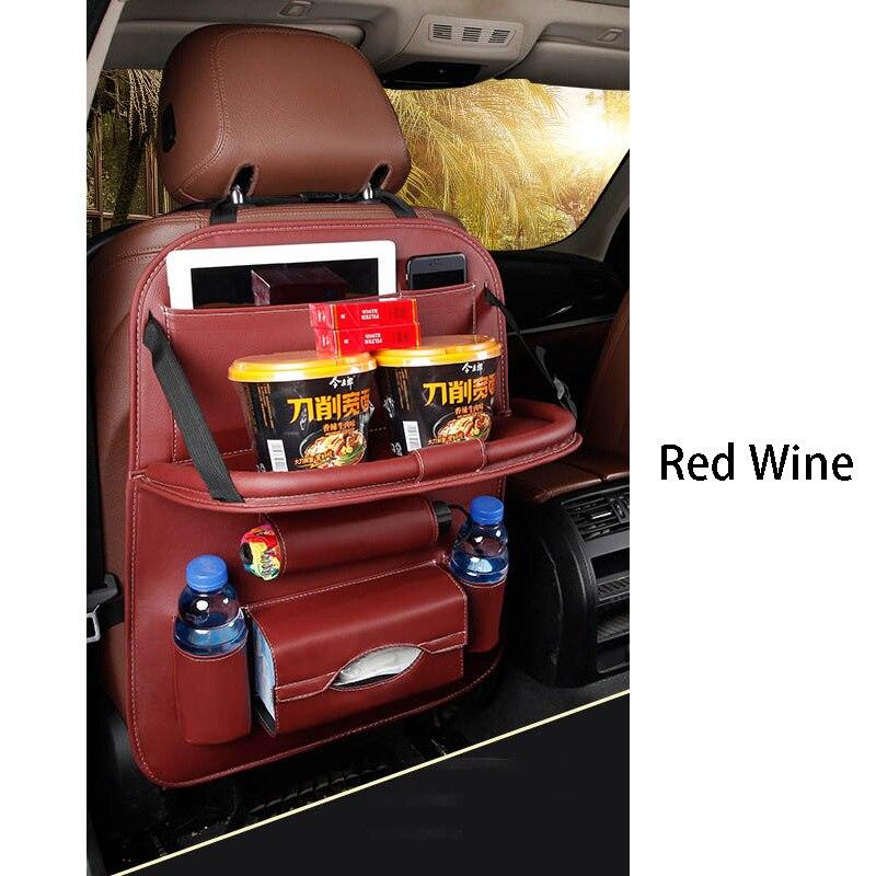Дропшиппинг, чехлы для автомобиля, дизайн, модное автомобильное сиденье, для хранения, стильная многофункциональная сумка на заднюю часть, детское сиденье, для покупок, для автомобиля - Цвет: Premium wine red
