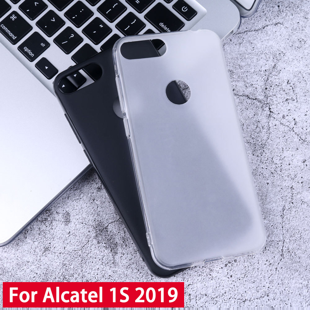 JONSNOW Soft Case for <font><b>Alcatel</b></font> 1S 2019 TPU Case Pudding Anti Skid Silicone for <font><b>Alcatel</b></font> 3 3L 1C 1X 2019 5003D <font><b>5039D</b></font> 5053Y Cases image