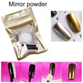 1g/Box Gold Sliver Glitter Shinning Mirror powder with 2 Brushes for Nail Gel Polish Powder Nail Art DIY Chrome Pigment