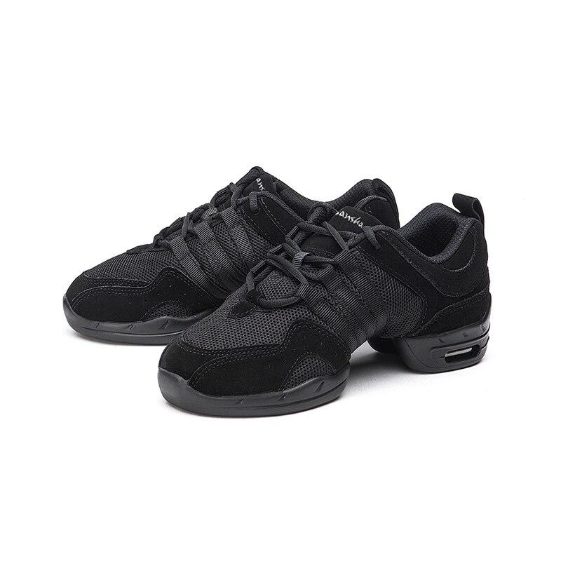 Image 5 - Sansha Unisex Dance Sneakers Leather Mesh Upper Thick PU Split soles Black Pro Modern Dance Jazz Shoe Air Cushion Sole  P22LS-in Dance shoes from Sports & Entertainment