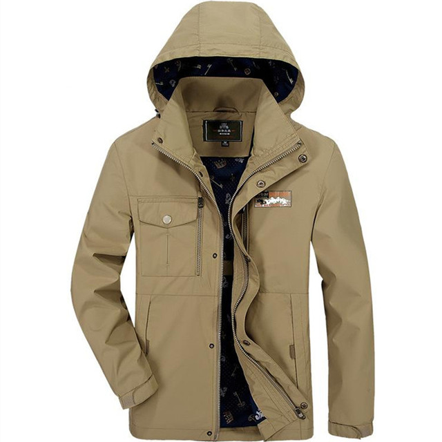 New Brand Men's Thin High Quality Waterproof Breathable Spring Autumn Jacket Coat For Men,4 Colors,Size M-3XL,1681,Free Ship