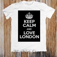 1f09c5b6 Funny Print Tshirt Men T shirt Women top tee KEEP CALM AND LOVE LONDON  UNISEX T