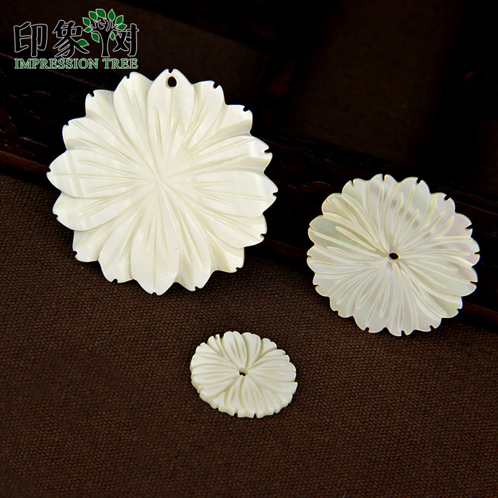 10//20X Mother of Pearl White Sea Shell DISC SeaShell Charms Pendants Bead 8-30mm