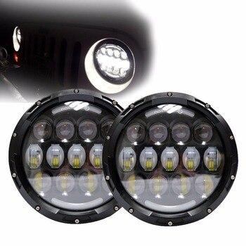 """Newest 1set 78w led headlight off road led headlight 7"""" round led heqadlight 78w hadlight for Jeep Wrangler"""