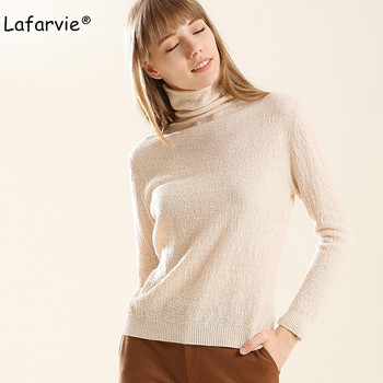 Lafarvie High Quality Turtleneck Knitted Sweater Women Autumn Winter Long Sleeve Warm Pullover Female Fashion Soft Jumper S-XXL lafarvie knitted turtleneck cashmere sweater women tops full sleeve pullover female loose thick csual jumper high quality s xxl