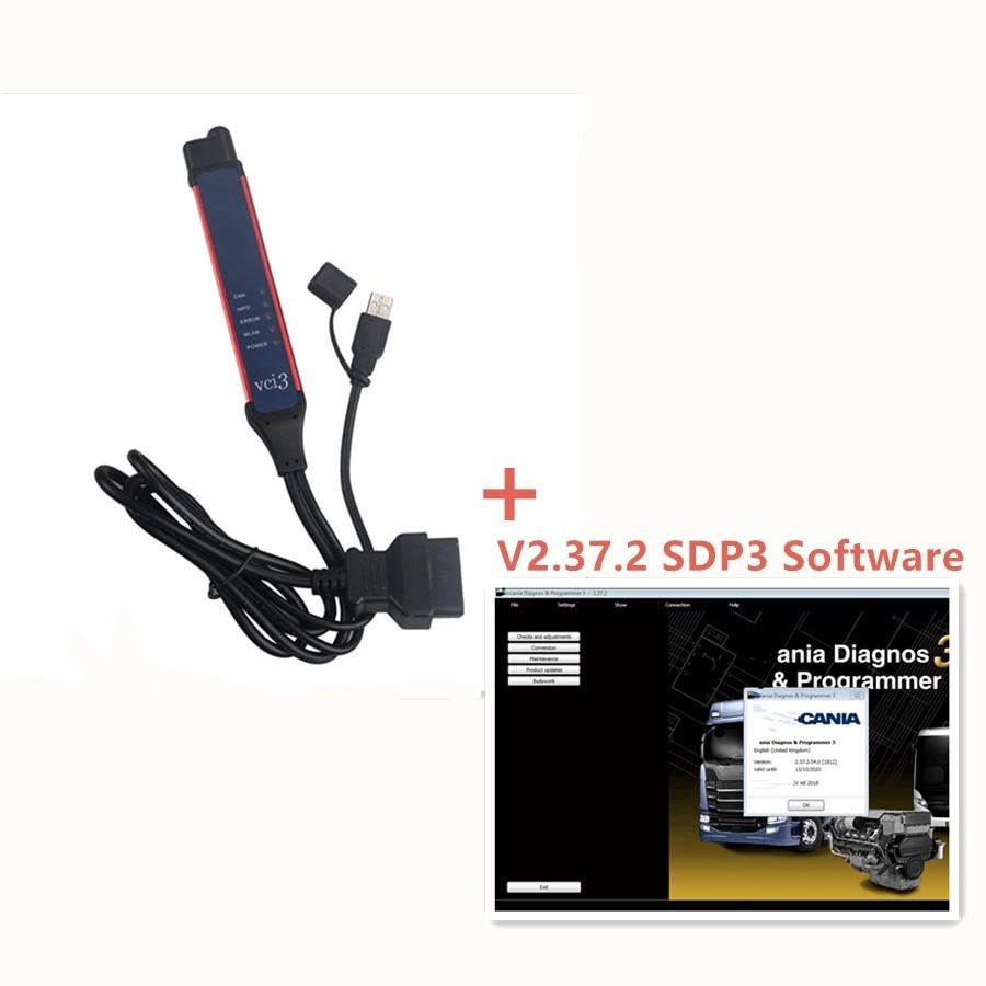 V2.38 SDP3 VCI3 Scanner pour Scania SDP 3 VCI-3 Camion Outil De Diagnostic de Programmation Sans Fil Multi-langue