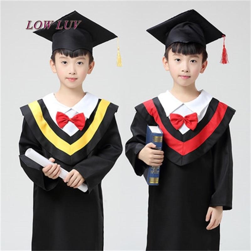 high quality children's performance clothing academic dress kindergarten doctor cloth graduation undergraduate suit doctor hat