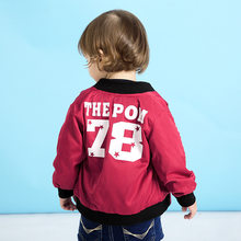 2019 Spring Children Clothes New Fashion Baby Coat Digital Printing Baby Outerwear Two Colors Baby Baseball Jacket For Boys(China)