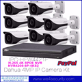 H.265 4K NVR Dahua 4MP IP Bullet Camera 8 Channel Kit IPC-HFW4421E NVR4208-8P-4K HD Network CCTV Camera Surveillance System