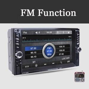 Image 2 - Lecteur de voiture Mp5 Mp4 avec caméra de vue arrière 6.6 pouces HD écran tactile numérique voiture Bluetooth Fm transmetteur Charge USB périphériques