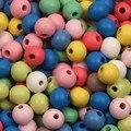 Красочные круглые бусины-разделители для ювелирных изделий, 8/1012 мм, 200/100/50 шт./лот, бусины из натурального дерева для изготовления украшений,...