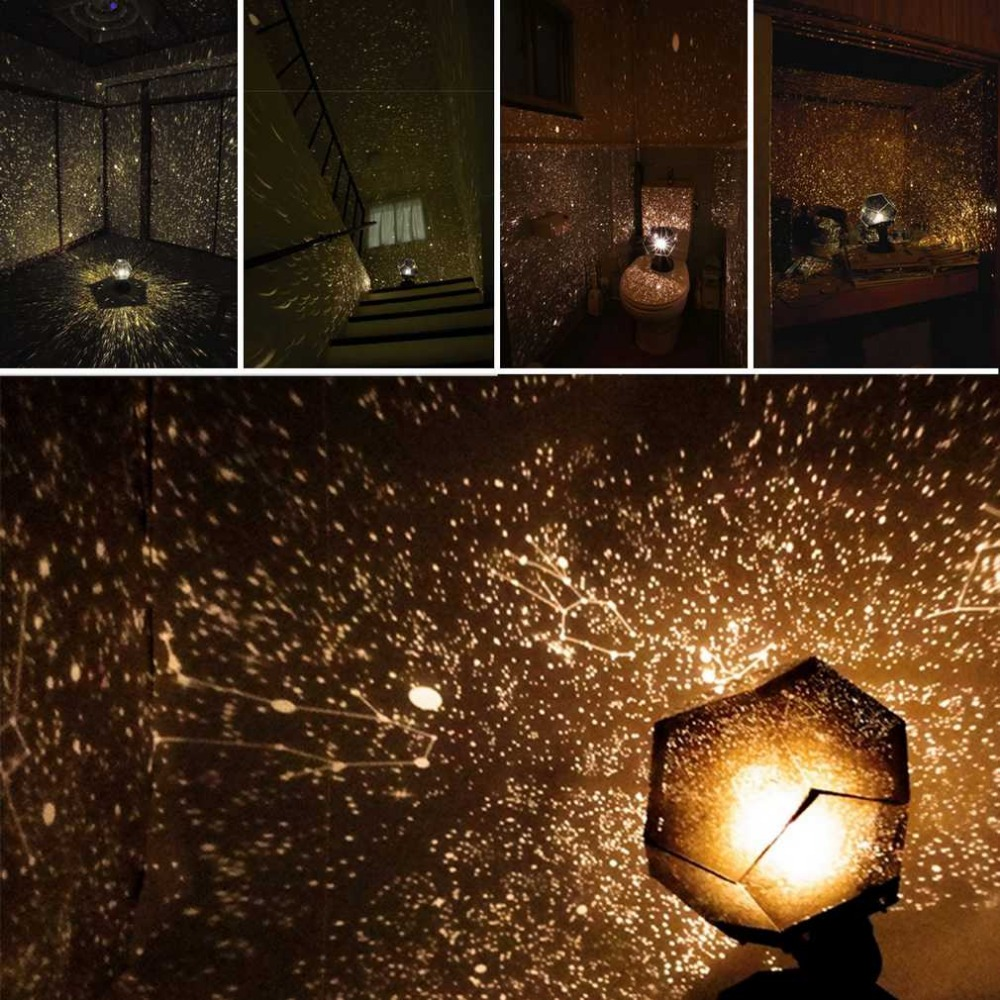 Bedroom romantic lighting - Celestial Star Astro Sky Projection Cosmos Night Lights Projector Night Lamp Starry Romantic Bedroom Decoration Lighting