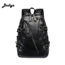 Retro deri erkek sırt çantası erkek omuz kitap çantası siyah tasarımcı sırt çantası seyahat erkek sırt çantaları Mochilas Ipad kılıfı Mochila