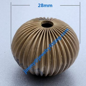 jewelry findings wholesale 28 mm corrugate beads oval shape DIY beads funny beads