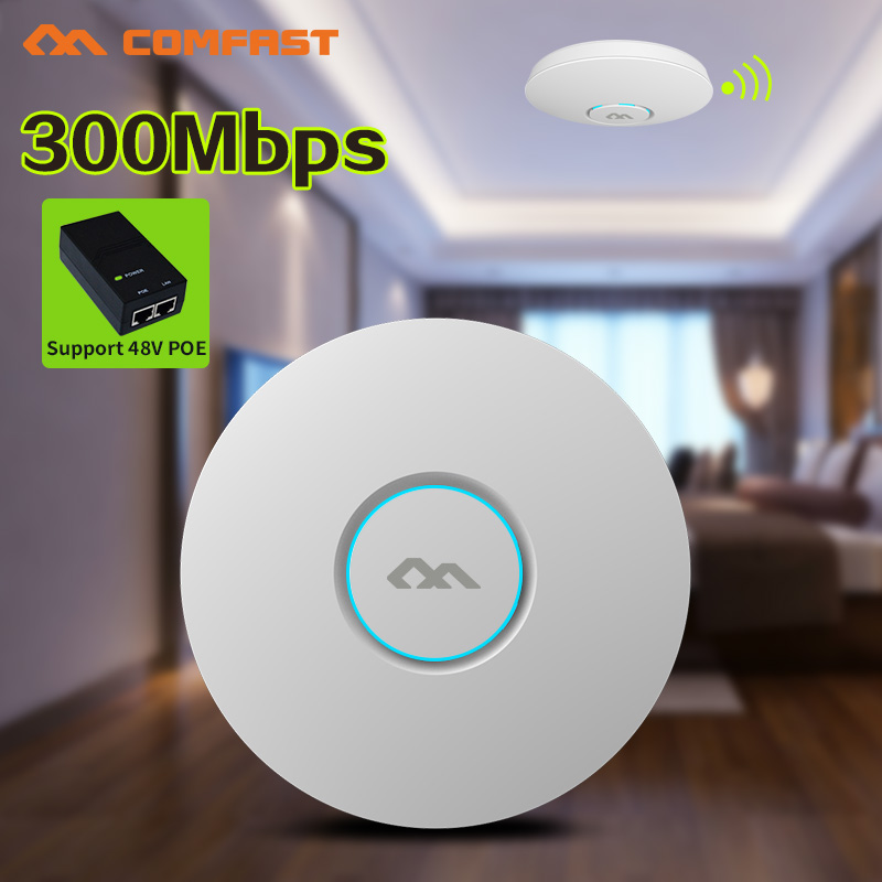 48V POE,3pcs,COMFAST 300Mbps Indoor WiFi Wireless AP 802.11b/g/n OPEN DD WRT wi fi Access Point Range router Extender image
