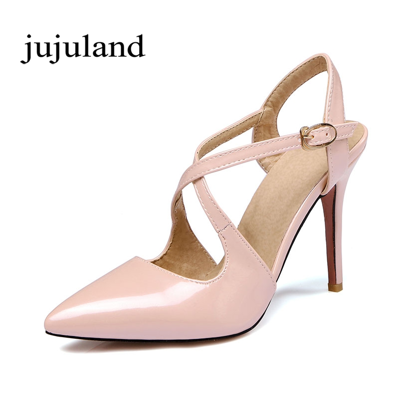 Spring/Autumn Women Pumps Women's Shoes Mary Janes Buckle Strap Thin Heels Pointed Toe Casual Fashion Cross-tied Shallow Solid new fashion thick heels woman shoes pointed toe shallow mouth ankle strap thick heels pumps velvet mary janes shoes