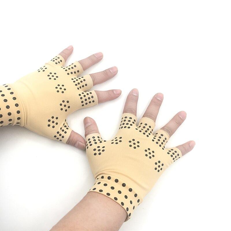 1 Paar Magnetic Therapie Finger Handschuhe Arthritis Schmerzen Relief Heilen Gelenke Hosenträger Unterstützt Gesundheit Pflege Werkzeug Fußpflege Werkzeug Verkaufsrabatt 50-70%