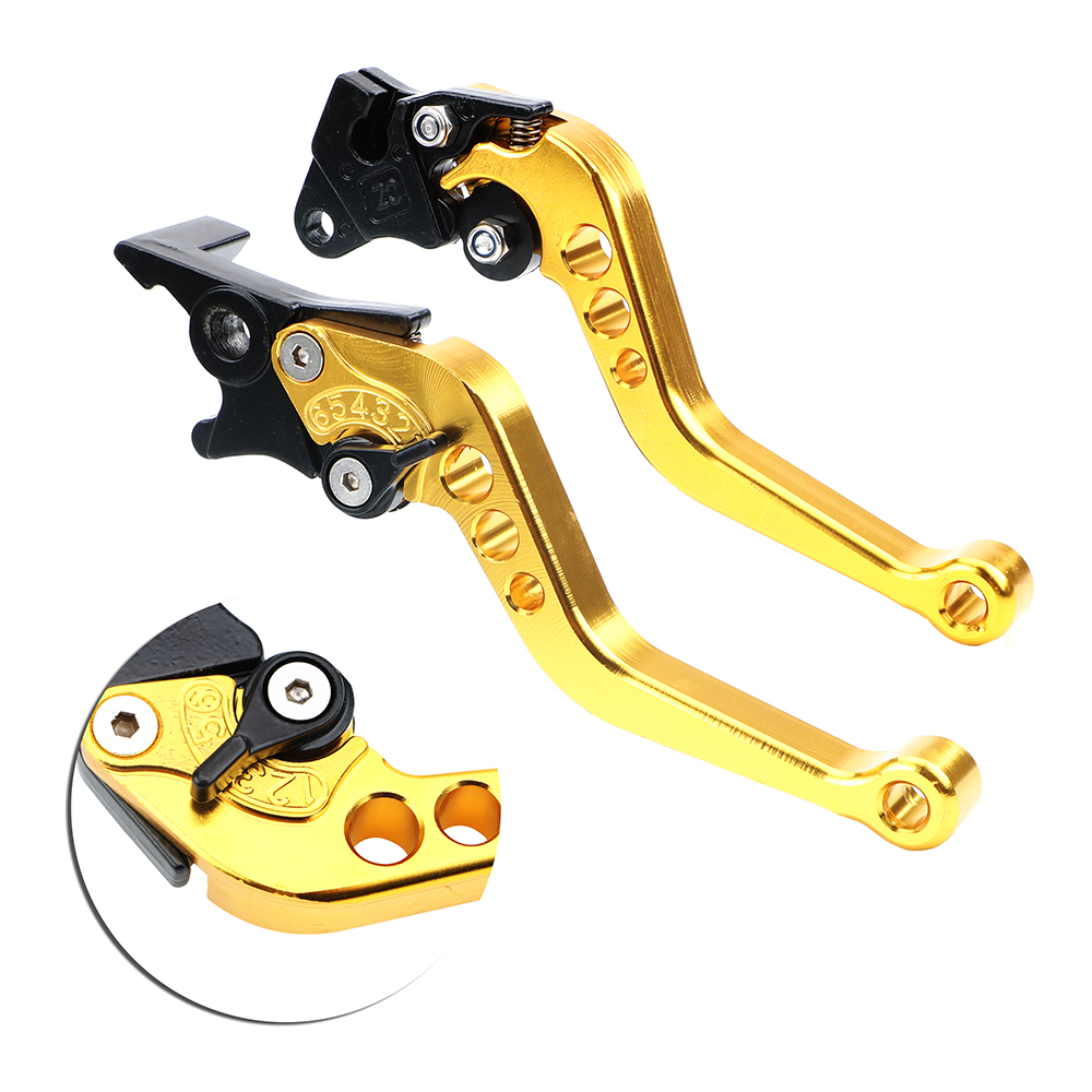 Universal Fit for Motorbike Modification <font><b>CNC</b></font> Motorcycle Clutch Drum Brake Lever Handle 1 Pair Alloy Motorcycle Brake Handle image