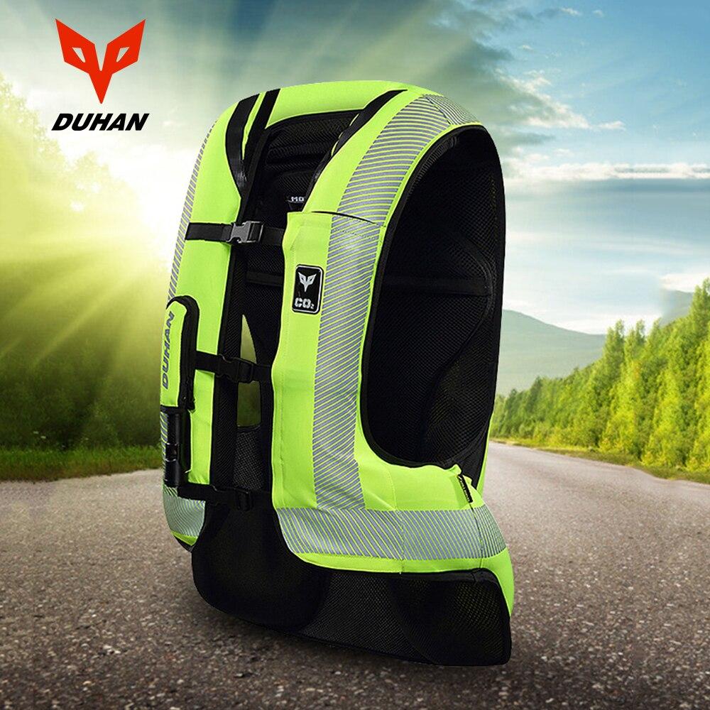 DUHAN motocicleta Airbag Moto motocicleta chaleco avanzado Air Bag sistema protector engranaje reflectante Moto Airbag Moto chaleco #