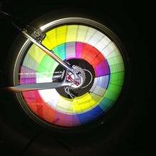 12 шт. цветной велосипедный светильник обода колеса спиц зажим трубка безопасности Предупреждение ющий светильник велосипедная полоска светоотражающий отражатель Аксессуары для велосипеда