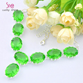 Best Seller Europe popular round Bright Green quartz crystal necklaces for women wedding jewelry necklace N0592