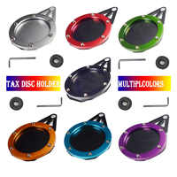 Motorcycle Tax Disc Motorbike Universal Round Tax Disc Plate Holder New Waterproof Multicolors