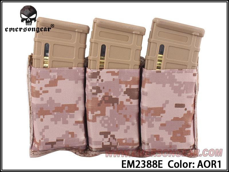 EMERSON Triple M4 Pouch FAST Magazine molle airsoft wargame gear painball equipment MAG EM2388 BK Coyote Brown SG MC