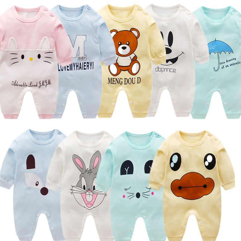 3 pcs/lot 100% Cotton Spring Long Sleeve Jumpsuit For 2019 Newborn   Romper   Baby Boy Girl Clothes Baby   Rompers   Soft Infant