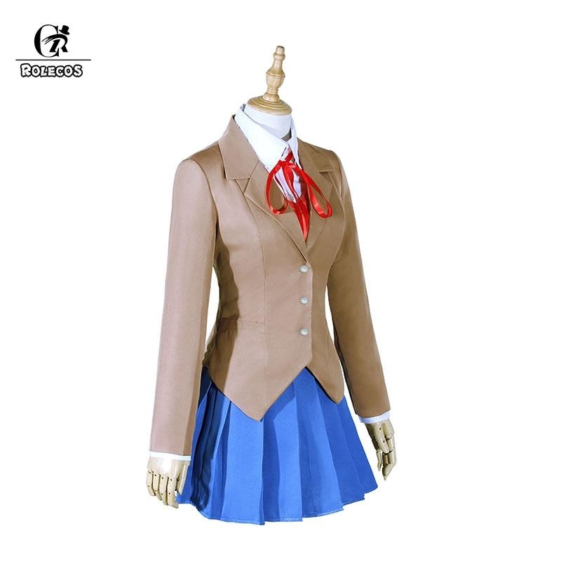 ROLECOS Doki Doki Litteratur Club Monika Cosplay Sayori Yuri Natsuki - Kostumer - Foto 3