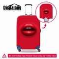 Dispalang 4 kinds fashion style luggage suitcase trolley case protective cover sexy red lips 3D print waterproof dust rain cover