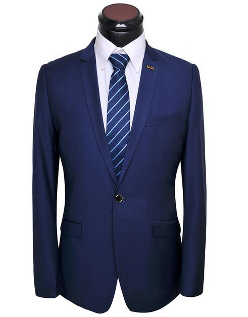 Royalblue Костюм Мужчины Черный Кофе Серый Slim Fit День Платье Костюмы Пиджаки Последние Одна Кнопка Костюм Гостиной Набор
