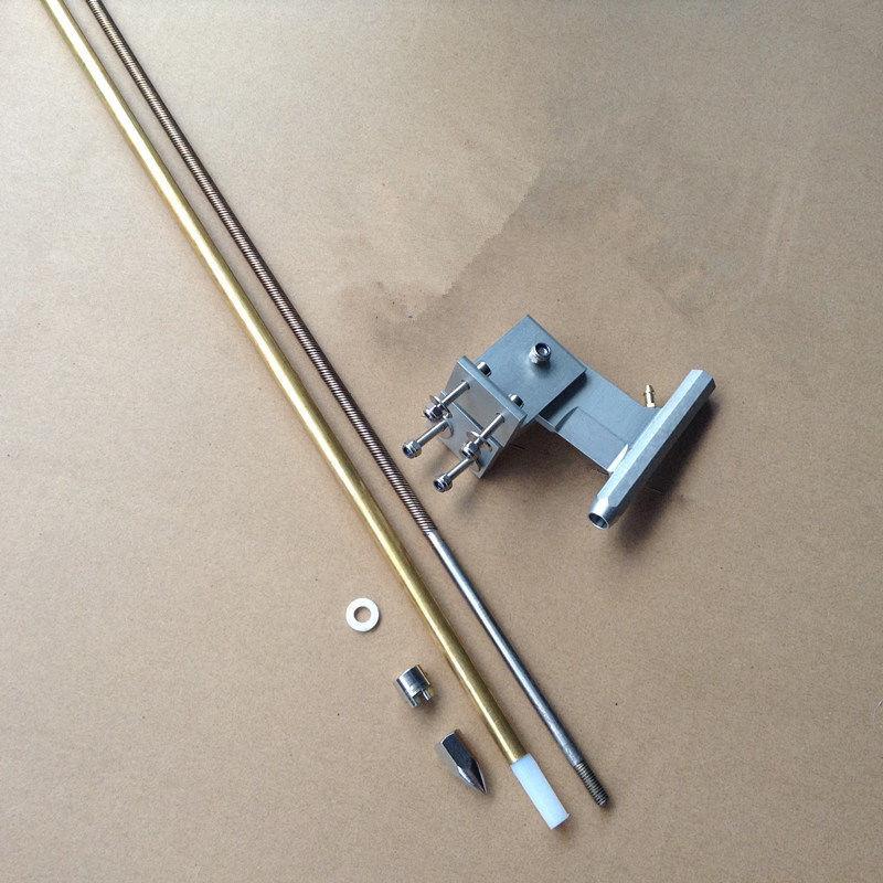 1 ensemble Kit arbre 6.35mm arbre Flexible + 80mm en forme de T 6.35mm support d'arbre + manchon d'essieu en cuivre + adaptateur d'hélice pour bricolage RC Jet Boat
