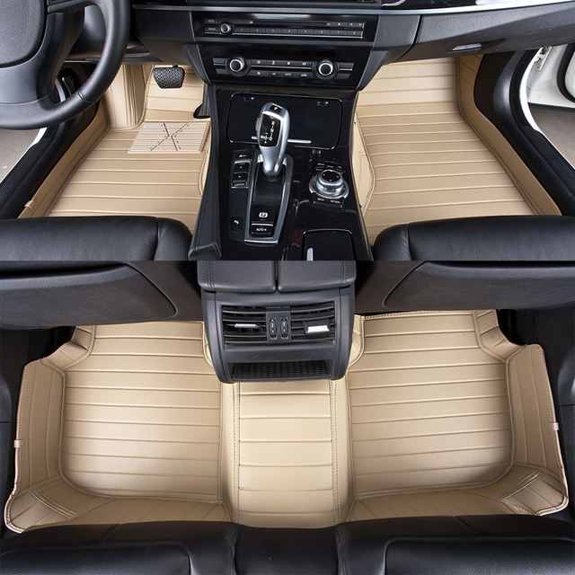 Podłogowe Dywany samochodowe Dostosowane dla Acura MDX RDX ZDX RL Car Styling Stóp Maty Samochodowe Dywaniki Podłogowe Czarny Brązowy Beżowy szary