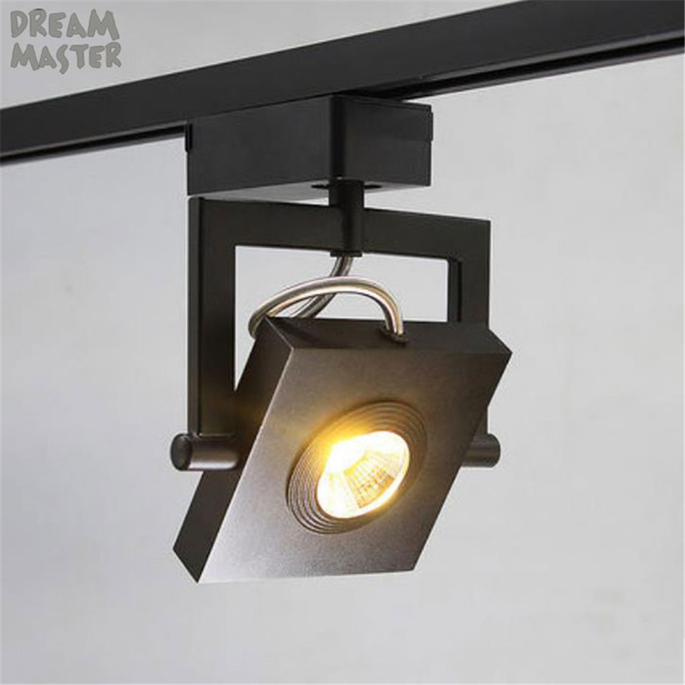 Us 49 99 Square Led Track Light 7w 9w Cob Ceiling Rail Lights For Living Room Kitchen Clothes Shoes Picture Lamp In