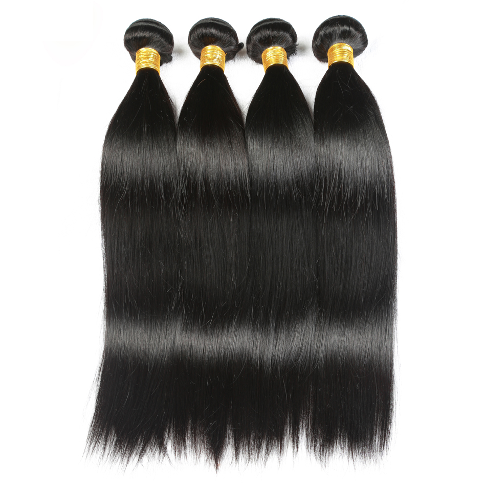 Wonder Beauty Peruvian Straight Hair Extension 100% Human Hair non remy 4Bundles Length From 8 Inches to 30 Inches Free Shipping