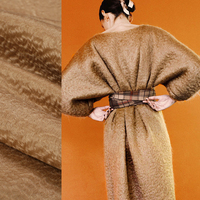 150CM Wide 860G M Weight Camel Double Faced Thick Mohair Wool Fabric For Autumn Winter Dress