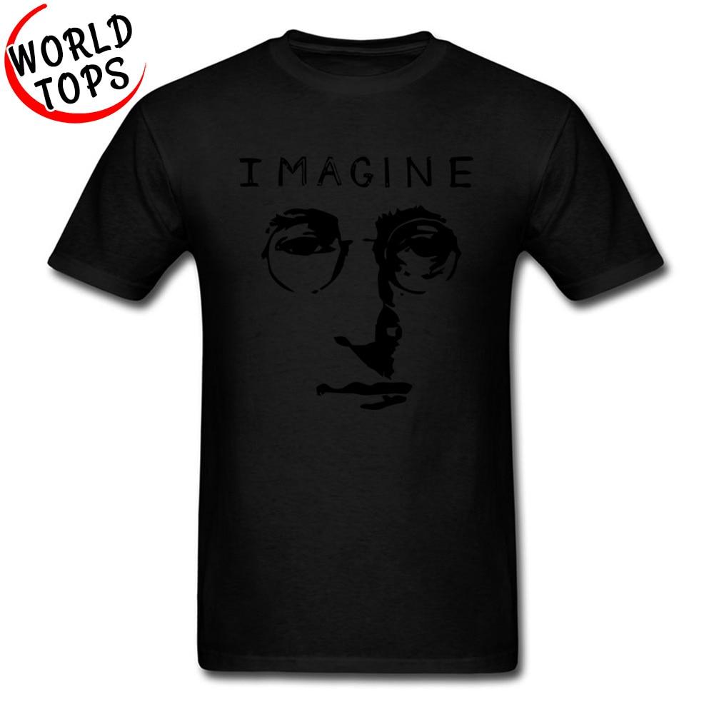 T Shirt John Lennon Imagine NEW YEAR DAY Slim Fit Casual Short Sleeve 100% Cotton Fabric Round Neck Men Tshirts Casual Tee Shirt John Lennon Imagine black