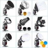 SGA K9 Flash Diffuser Adapter Kit Accessories Barndoor/Snoot/Softbox/Honeycomb Universal Mount CA SGU Speedlite for Canon Nikon