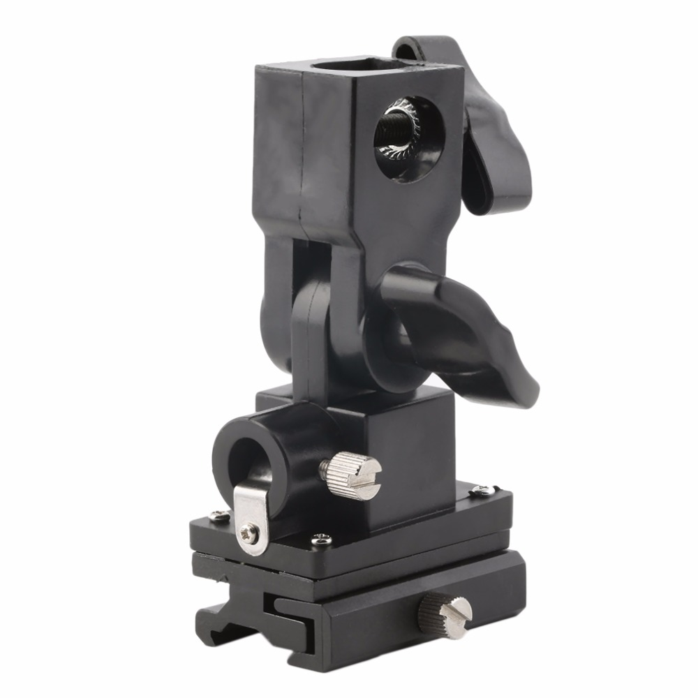 Universal Type B Hot Shoe Flash Umbrella Holder Swivel Light Stand Bracket For Camera Drop Shipping