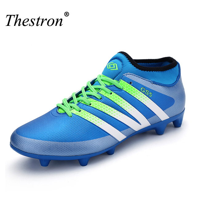 e2ab25633 Hot Sales Men Kids Soccer Cleats Brands Artificial Grass Spikes Shoes Sport  Sneakers Mens Soccer Cleats Leather Football Shoes