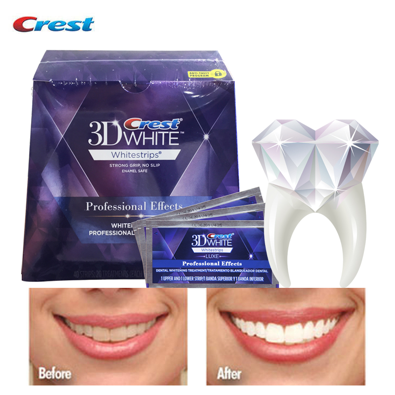 3D White Whitestrips Luxe Professional Effects Oral Hygiene Care Tooth Whiter BleachingTeeth Whitening Strips 5 /10/20Pouches