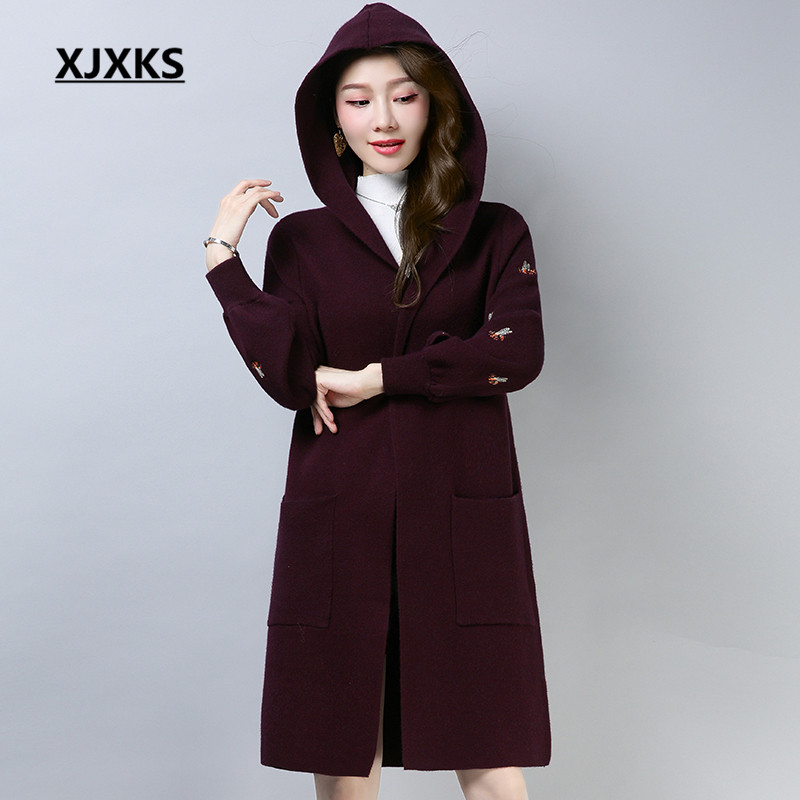 Xjxks Manteau Femme Hiver 2019 New Fashion Winter Coat Women High Quality Hooded Brand Design Comfortable Women Parkas Jacket Various Styles Parkas
