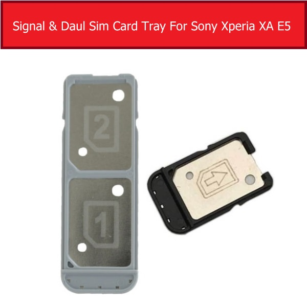 Single&Daul Sim Card Reader Tray For Sony Xperia XA F3111 F3113 F3115 Card Slot For Sony E5 F3311 F3313 Sim Card Holder Parts