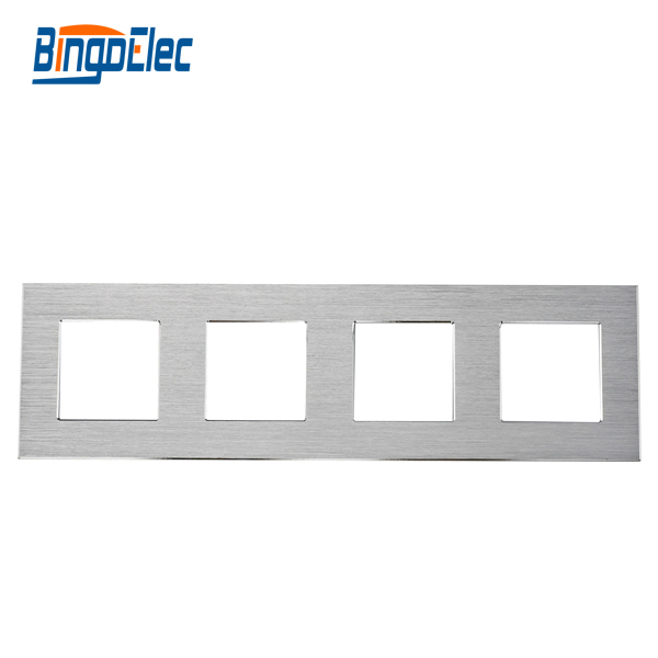 silver,black,gold 4 aluminum frame, 86*299mm, EU standard, four frame For swicth and socket parts ,Hot sale