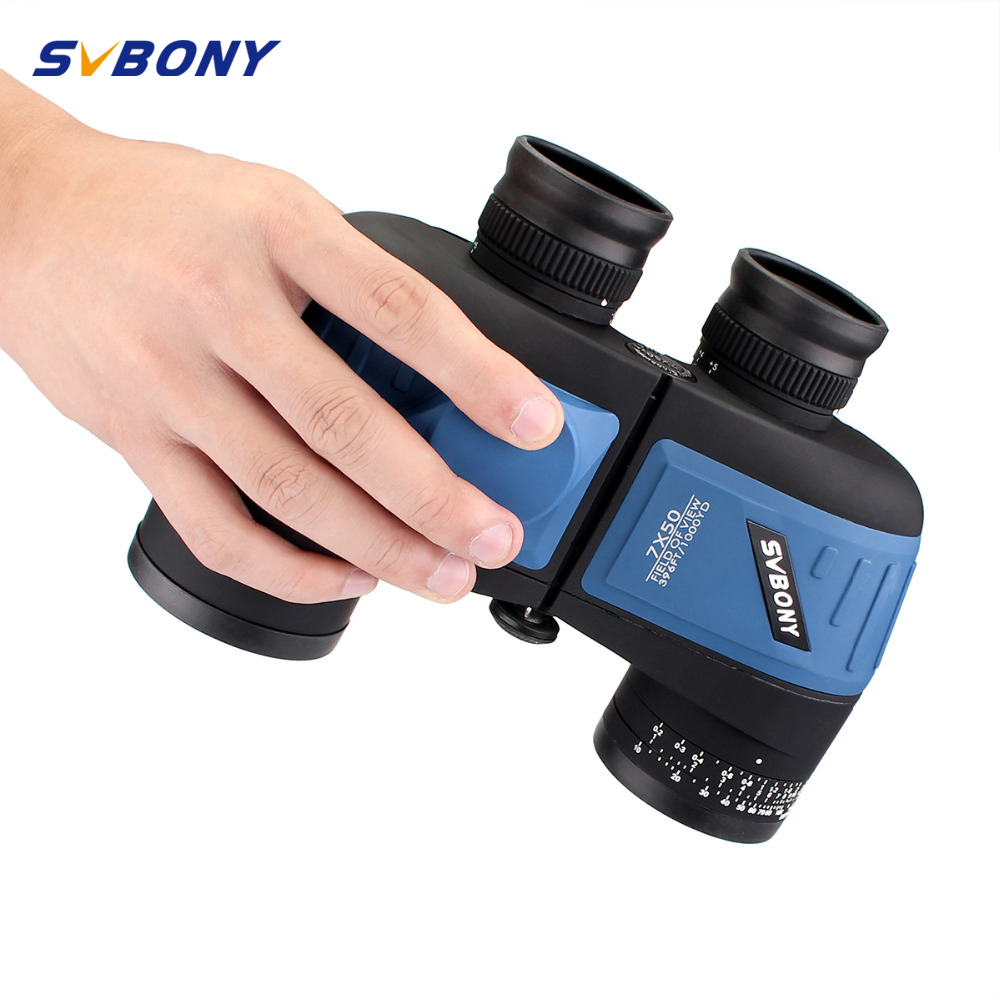 SVBONY Military 7x50 Binocular Waterproof Binocular w/ Rangefinder & Compass Travel Hunting Telescope F9316L svbony 8x42 binocular fmc bak4 waterproof fogproof wideangle view roof prism camping tourism travel outdoor telescope f9302a