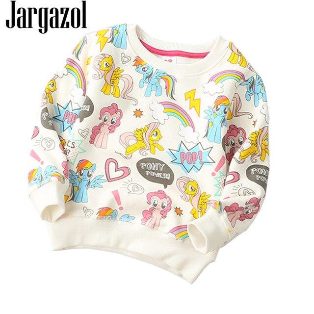 Girls Shirt 2018 Autumn Winter Sweater Cartoon Pony Printing Cute Vetement Enfant Fille Kids Tops Baby Hoodie Fleece Sweatshirt