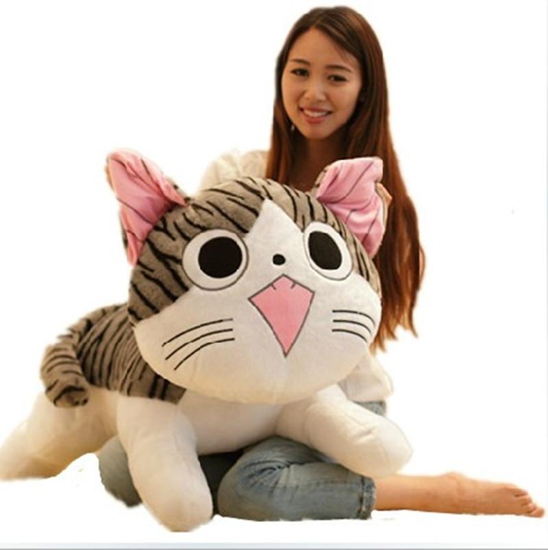 cartoon round eyes cat  large 100cm plush toy hugging pillow toy Christmas gift h595 cartoon cat about 100cm swimming eyes cat plush toy soft pillow toy birthday gift h599